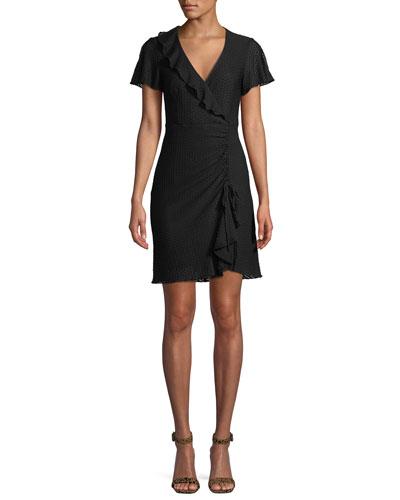 Calming Slit-Sleeve Dress w/ Ruffles