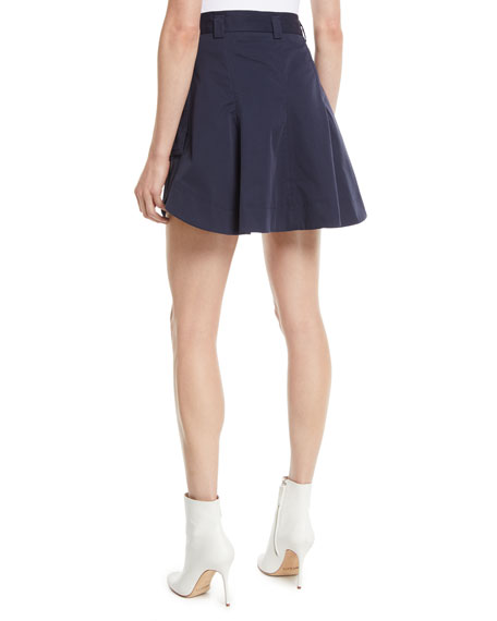 A-Line Cotton Mini Skirt