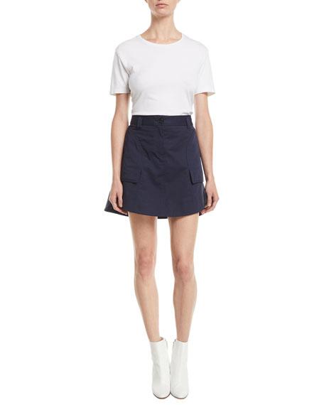 A-Line Cotton Mini Skirt