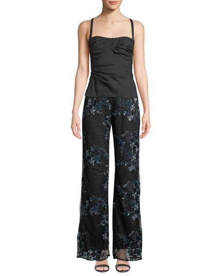 Blissful Embroidered Lace Pants