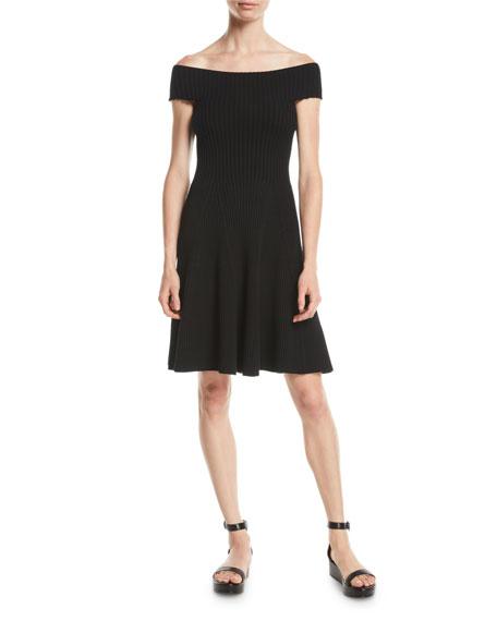 kate spade new york off-the-shoulder sweater dress
