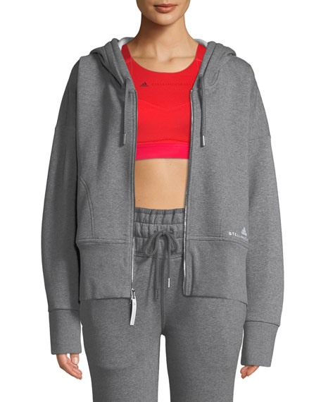 adidas by Stella McCartney Essentials Zip-Front Hoodie Sweatshirt