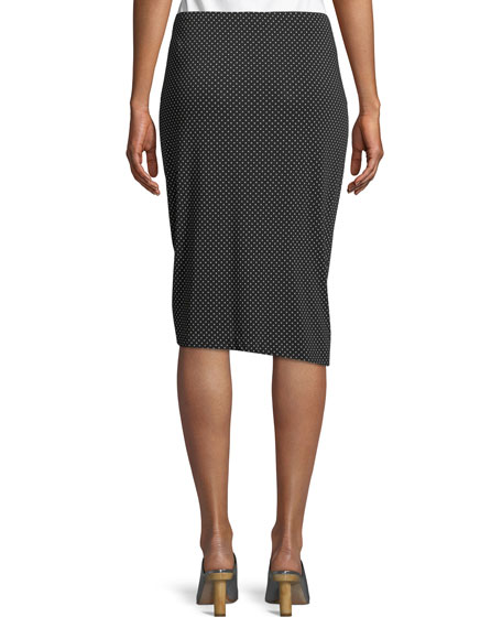 Spa Day Jersey Skirt in Polka Dots