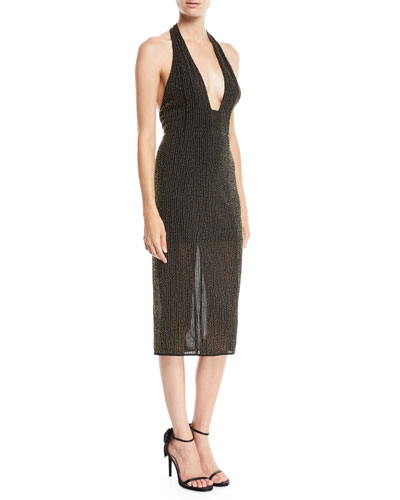 Brooke Halter Dress w/ Beading