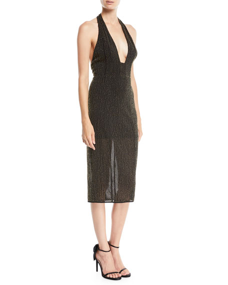 Brooke Halter Dress w/ Beading