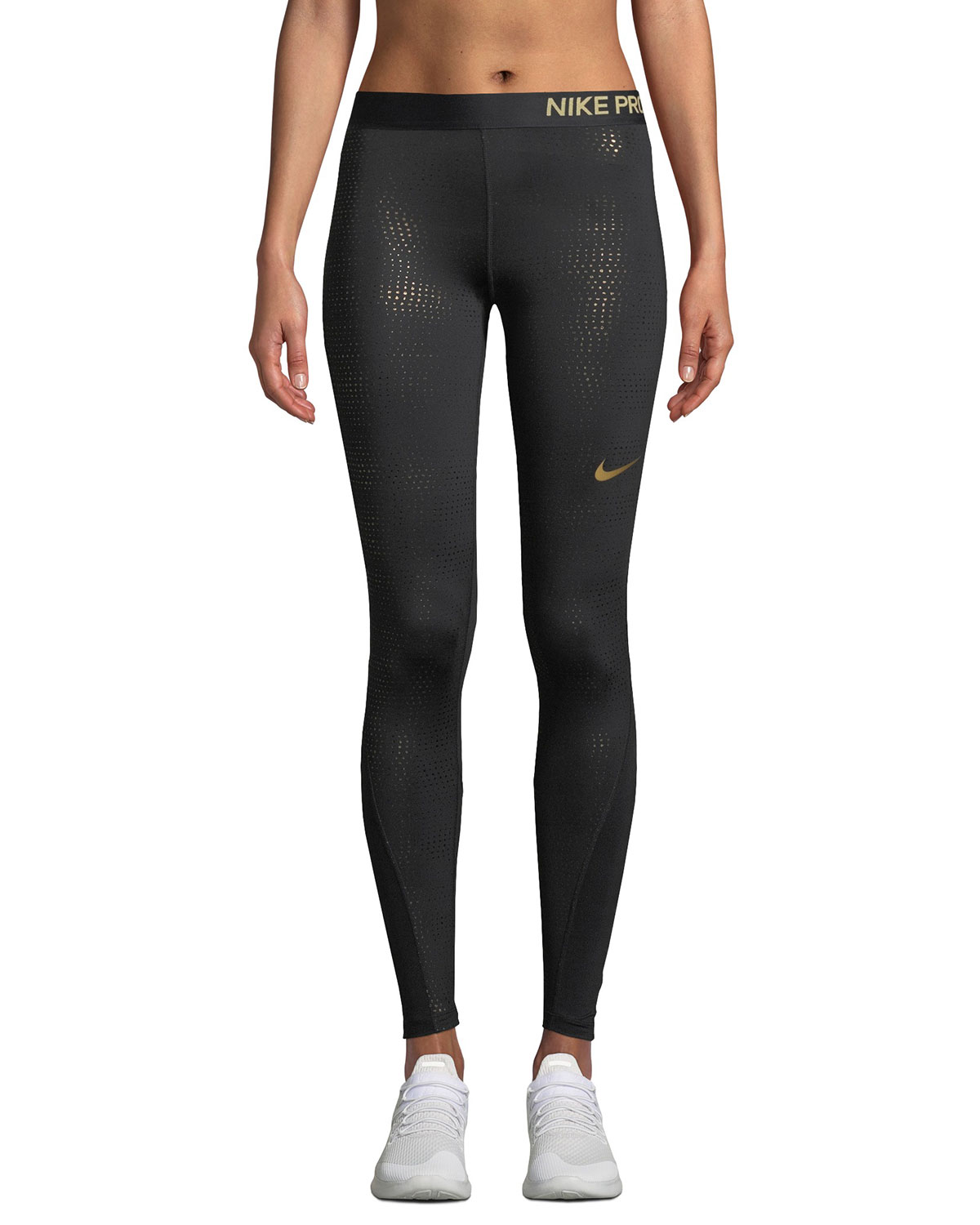 Nike Metallic Dot-Print Performance Leggings  fc1e28d7302df