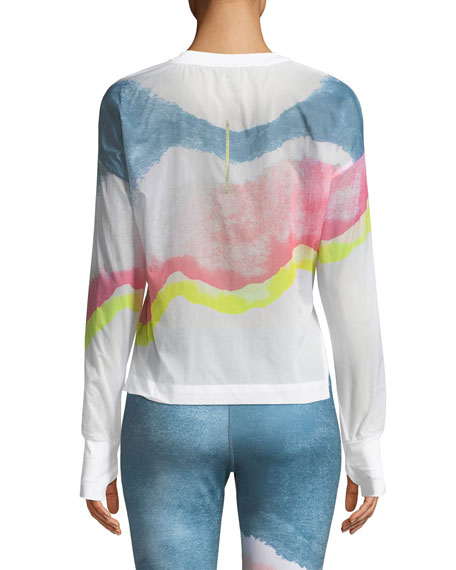 NIKE Jackets REPEL LOU PRINTED PACKABLE POPOVER RUNNING JACKET
