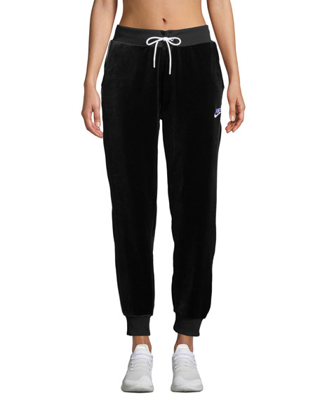 Women'S Sportswear Velour Jogger Pants, Black
