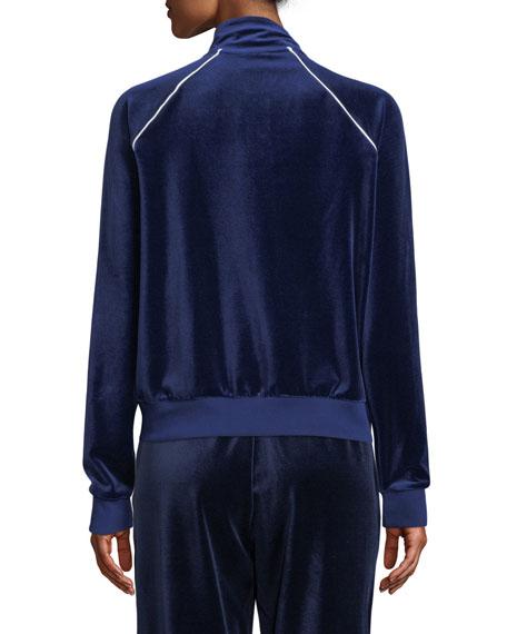 Velour Track Jacket, Blue