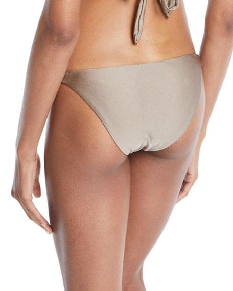 Beach Glow Perry Knotted-Sides Bikini Bottom