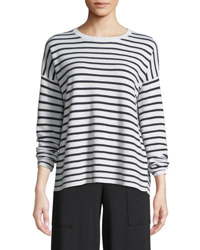 Long-Sleeve Striped Merino Sweater