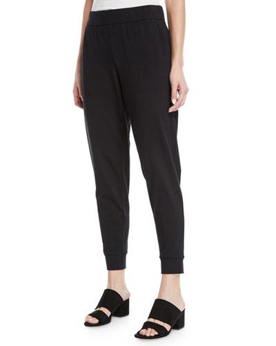 Slouchy Organic Cotton Jersey Pants, Plus Size