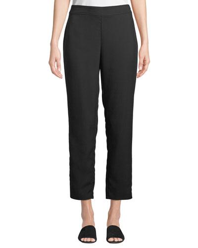 Slim Ankle Pants in Wrinkle-Resistant Knit