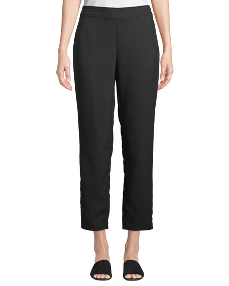 Eileen Fisher Slim Ankle Pants in Wrinkle-Resistant Knit