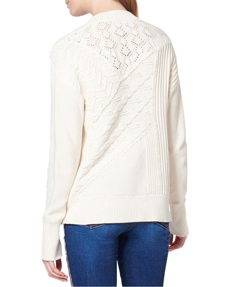 Dessa Cable-Knit Cotton Sweater
