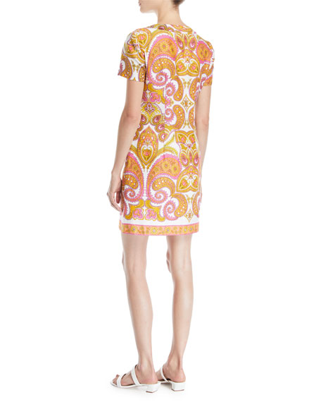 Arboretum Paisley Cotton Dress w/ Zipper Front