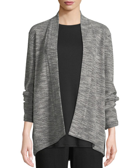 Eileen Fisher Jacquard Knit Short Eco Cotton Kimono
