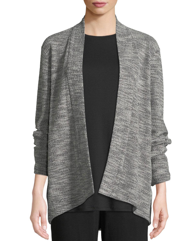 adc7662937e Eileen Fisher Jacquard Knit Short Eco Cotton Kimono Jacket