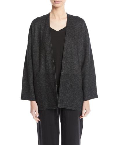 Melange Knit Kimono Jacket