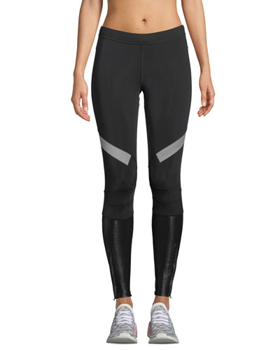 Mid-Rise Paneled Running Tights