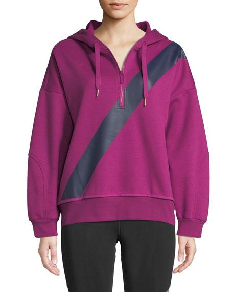 adidas by Stella McCartney Yoga Comfort Striped Quarter-Zip