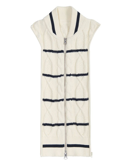 Farren Striped Cable-Knit Dickey