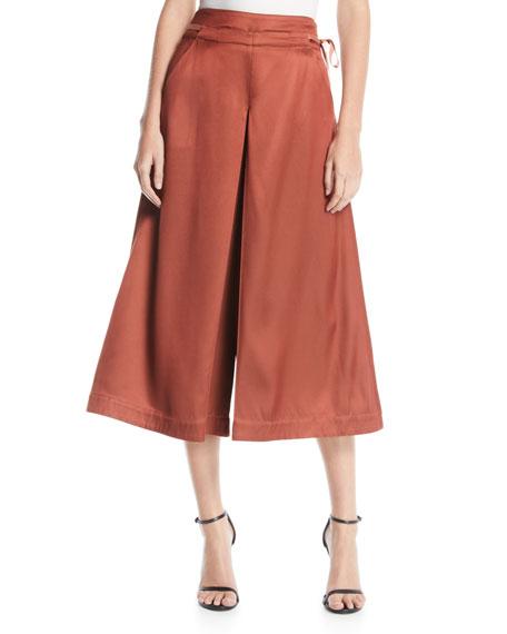 palmer//harding Sundance High-Rise Twill Culotte Pants