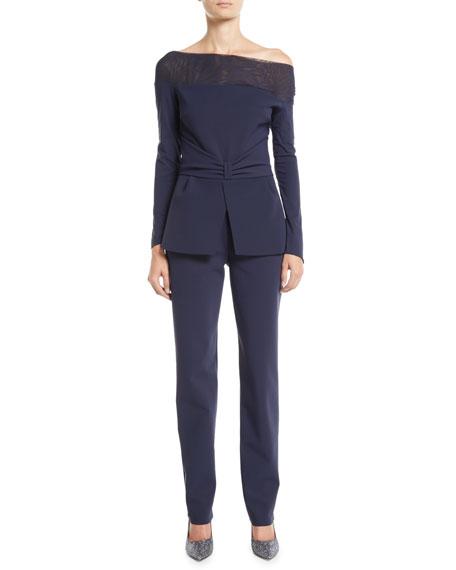 Chiara Boni La Petite Robe Ninella Long-Sleeve Jumpsuit