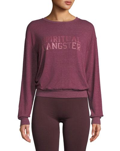 Varsity Savasana Pullover Sweater