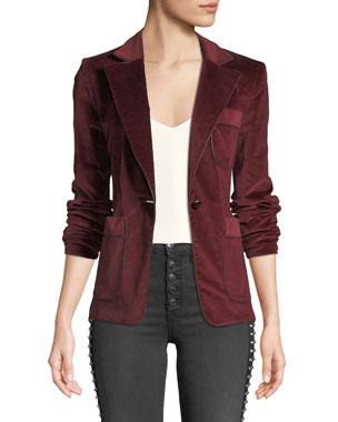 d987cf8550637 Veronica Beard Rosalie One-Button Corduroy Blazer. Favorite. Quick Look