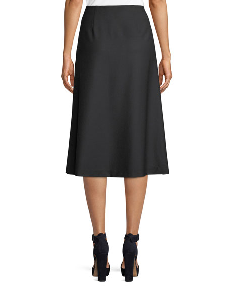 Verna Lace-Up Midi Skirt