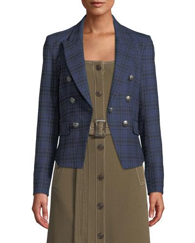 Kenton Plaid Single-Button Jacket