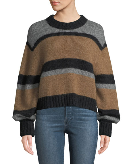 Magda Striped Alpaca Pullover Sweater