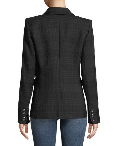 Miller Double-Breasted Tonal Plaid Jacket