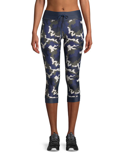 NYC Camo-Print Cropped Leggings