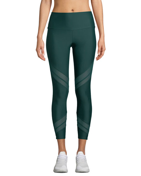 ONZIE SPORTY MESH-INSET ACTIVEWEAR LEGGINGS