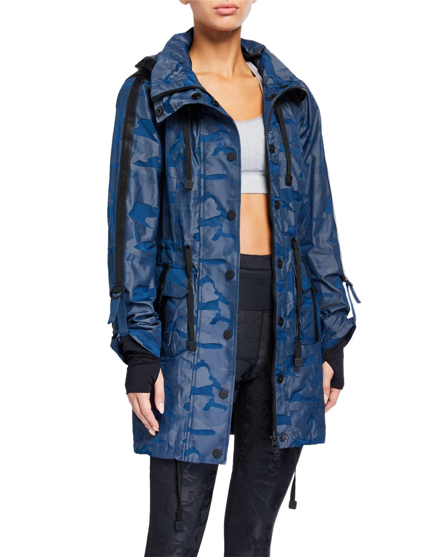 Camo Print Hooded Anorak Jacket