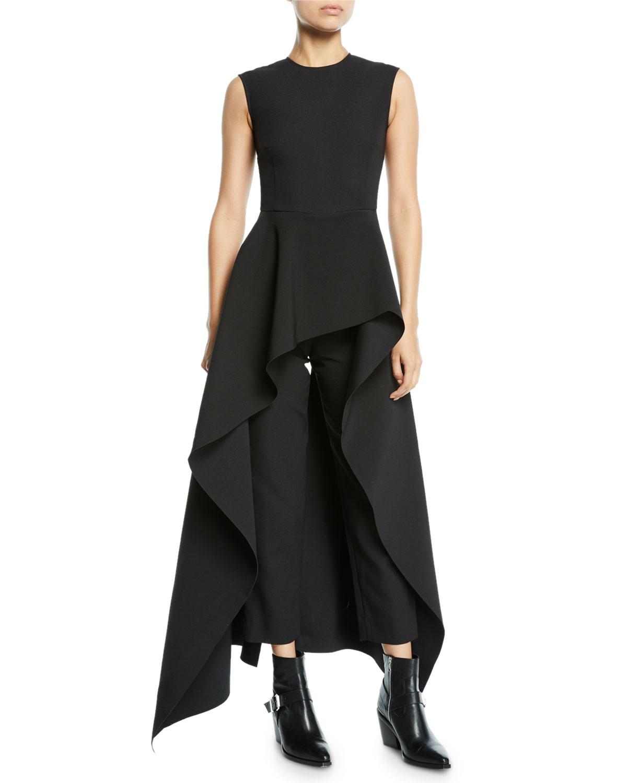 5eada811229 Solace London Soraya Sleeveless Crepe Asymmetric Ruffle Jumpsuit ...