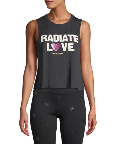 Radiate Love Cropped Muscle Tank