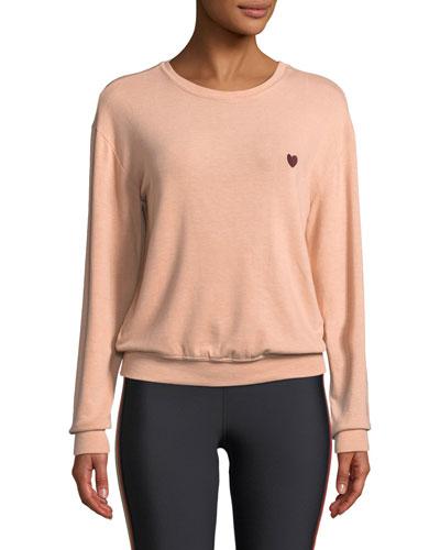 Give Love Graphic Crewneck Pullover Sweatshirt