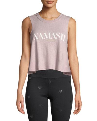 Namaste Cropped Muscle Tank