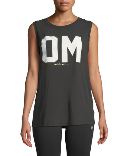 Om Chakra Graphic Activewear Muscle Tank