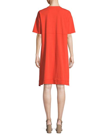 Slubby Organic Cotton Jersey Shift Dress, Plus Size