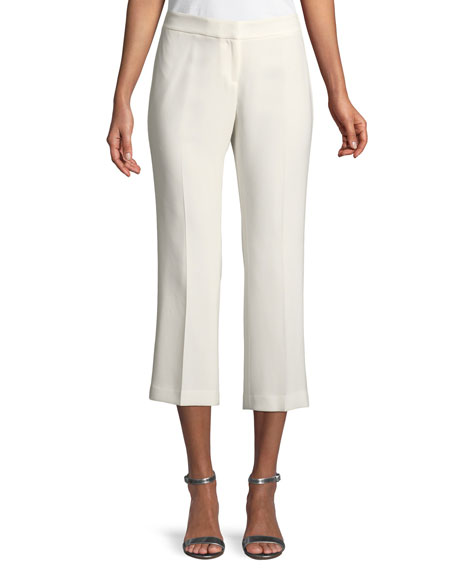 Lafayette 148 New York Manhattan Finesse Crepe Cropped