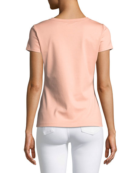 Cotton-Stretch Basic Tee