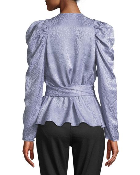 Palermo Silk Long-Sleeve Wrap Top