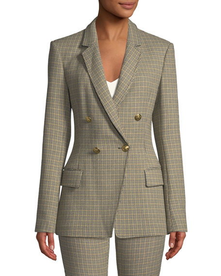 Sedgwick Double-Breasted Houndstooth Blazer
