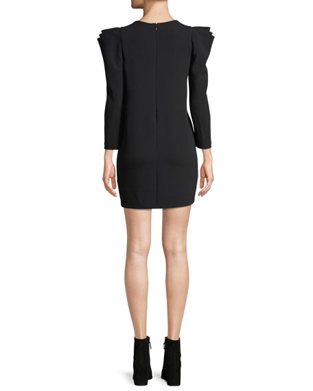 Fiona Long-Sleeve Crepe Shift Dress