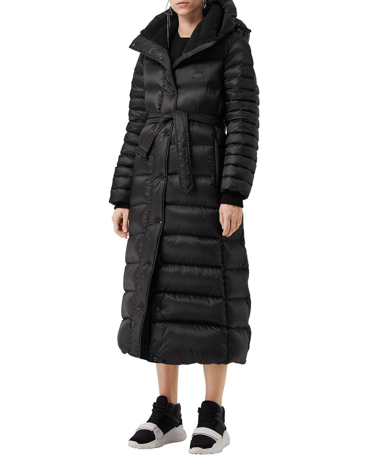 fb600362e89 Burberry Single-Breasted Belted Puffer Coat