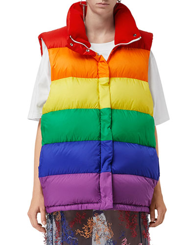 Rainbow Down-Filled Gilet